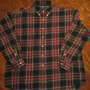 POLO Ralph Lauren XL Flannel Black Red Men's Shirt